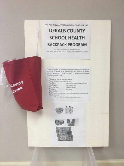 Farm Bureau food drive for The Back Pack Program.