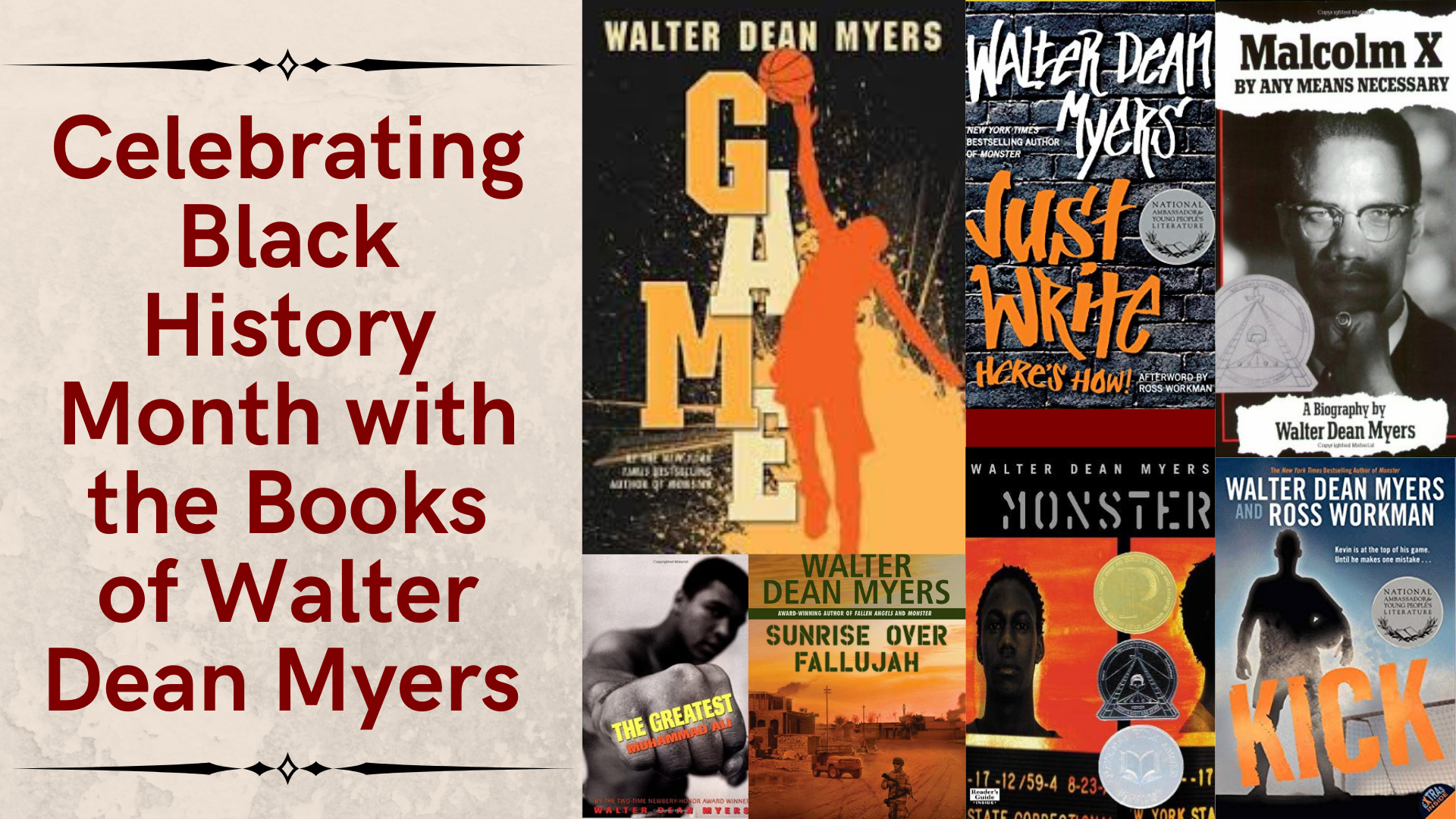 Celebrating Black History Month with the Books of Walter Dean Myers