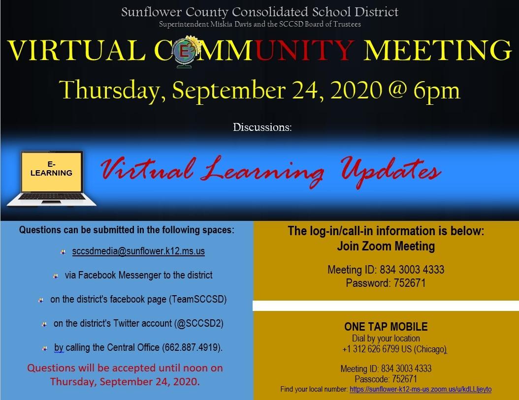 Virtual Community Meeting