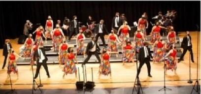 Prattville High School Show Choir students dancing.