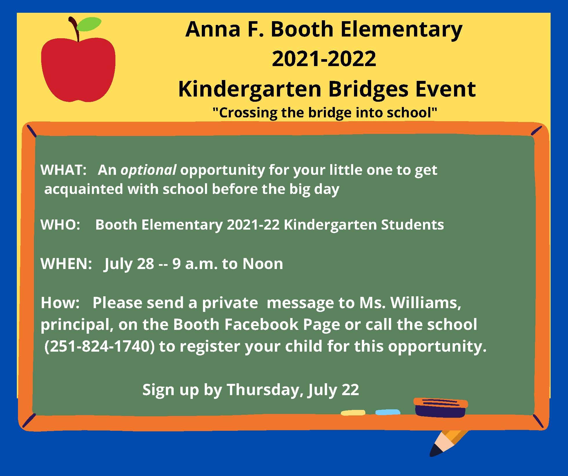 Kindergarten Bridges Event