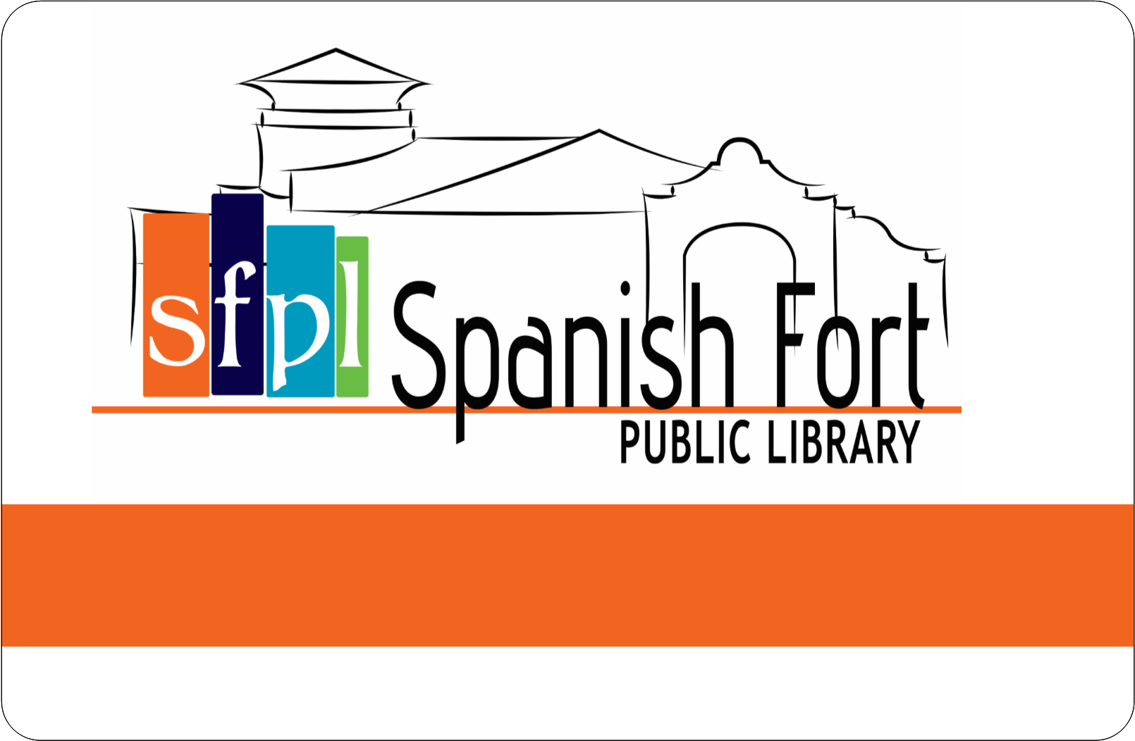 Spanish Fort Public Library card