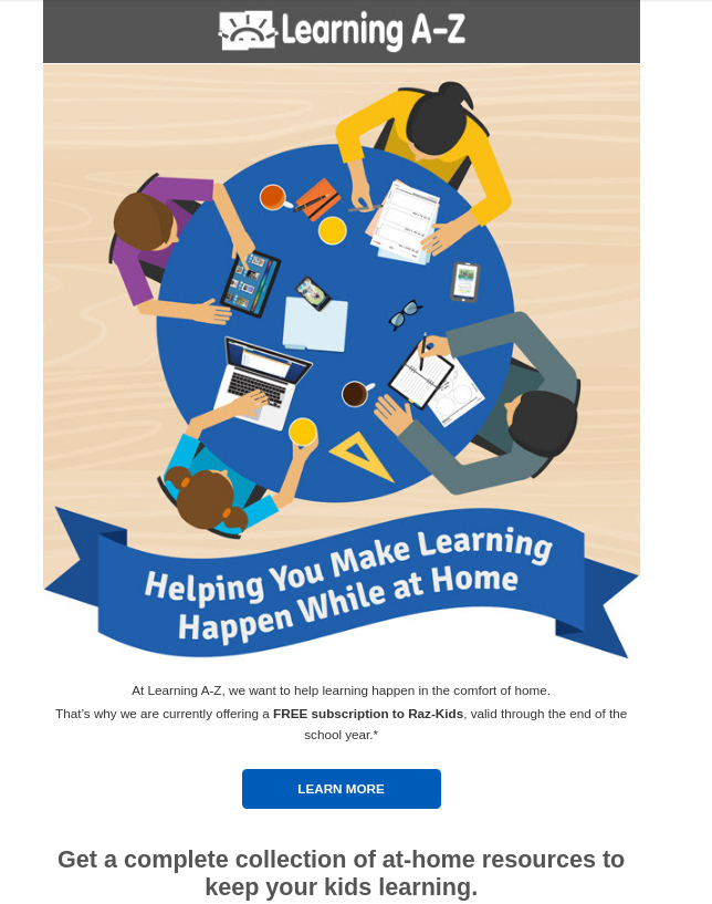 Link to free learning resources.