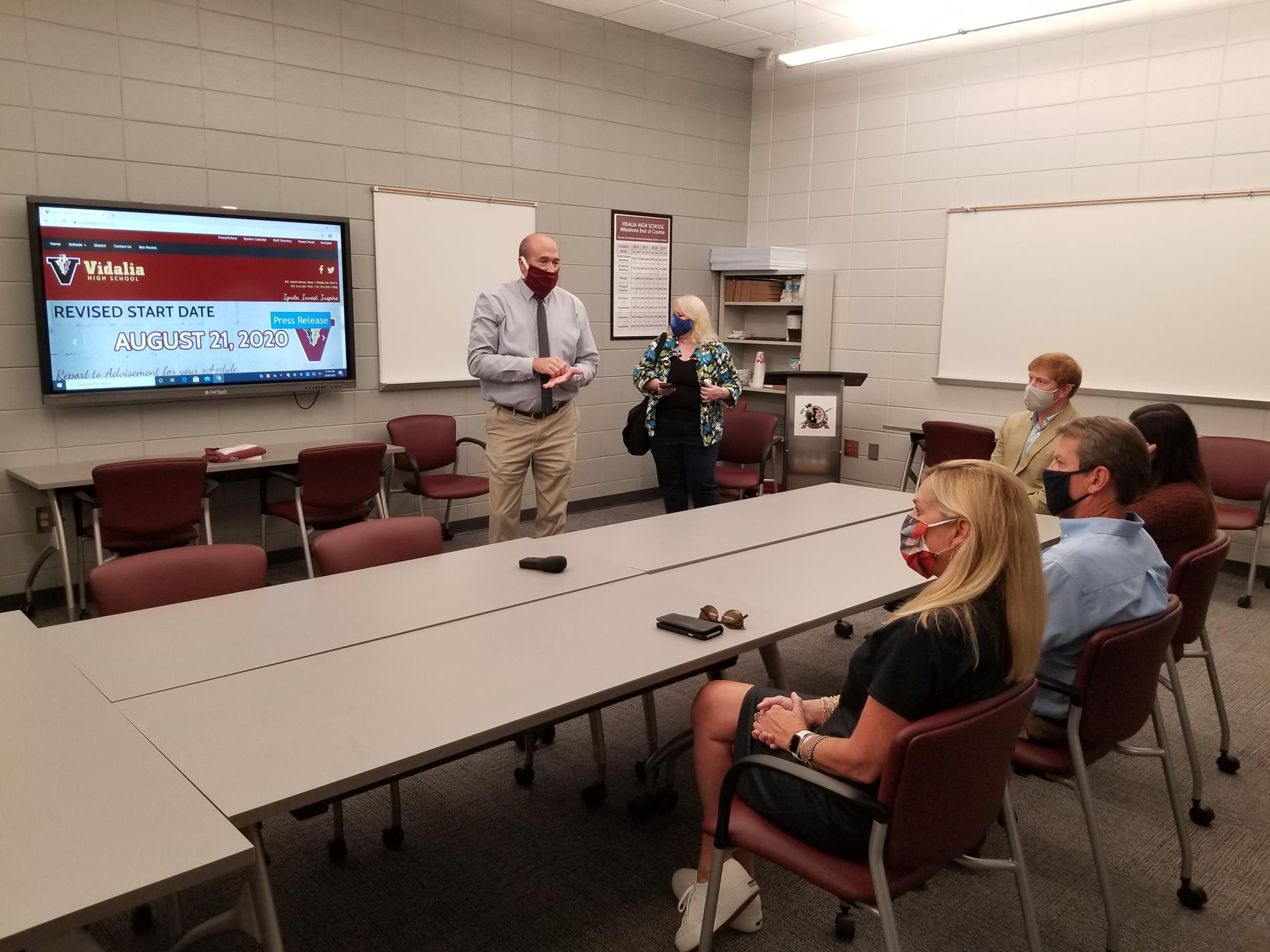 Principal John Sharpe Talks Shop w/Gov