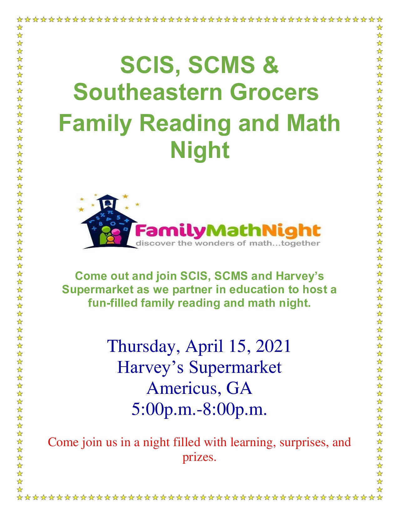 Join us for Math & Literacy Night!