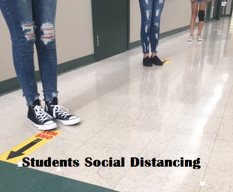 Students social distancing