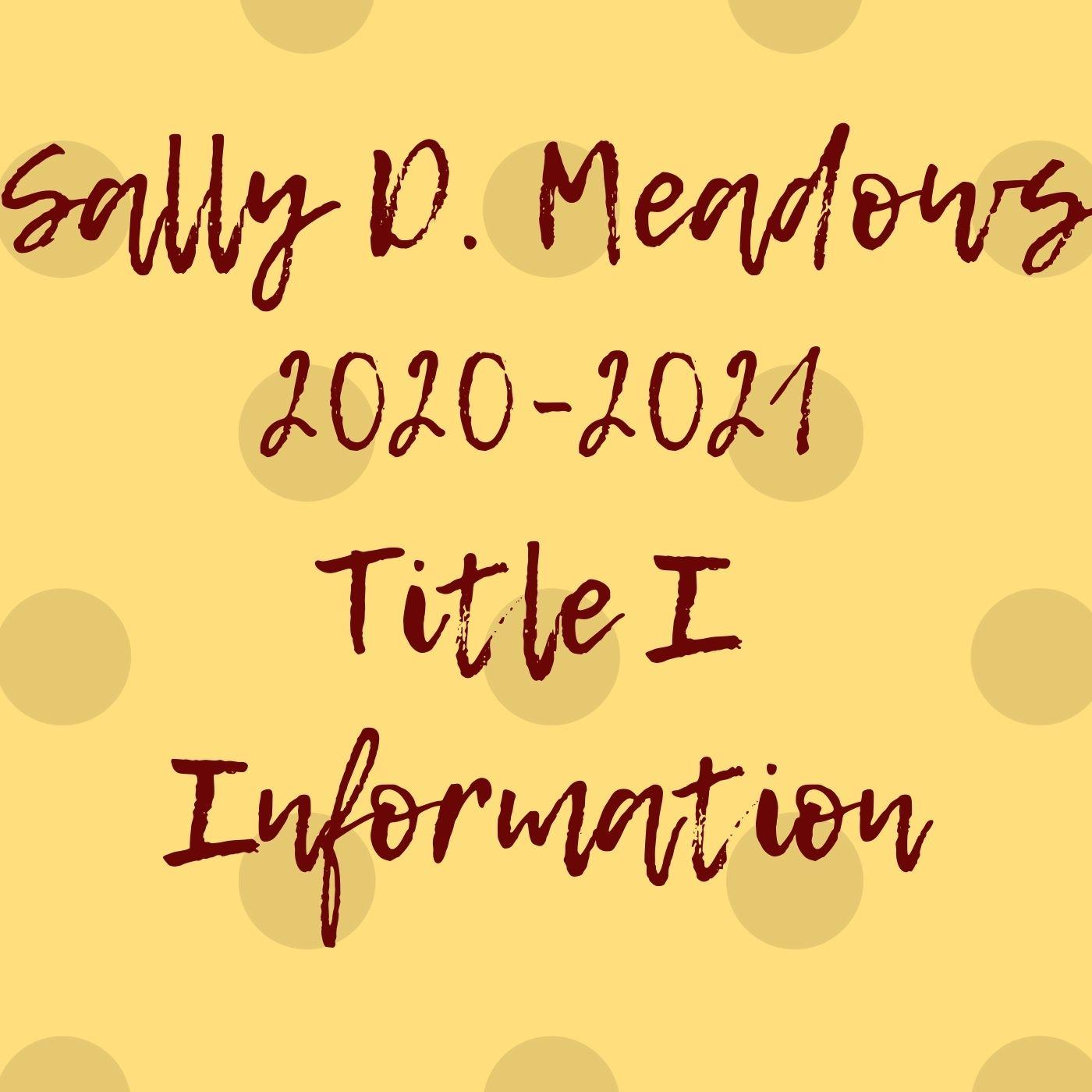 SDM Title I Information 20-21
