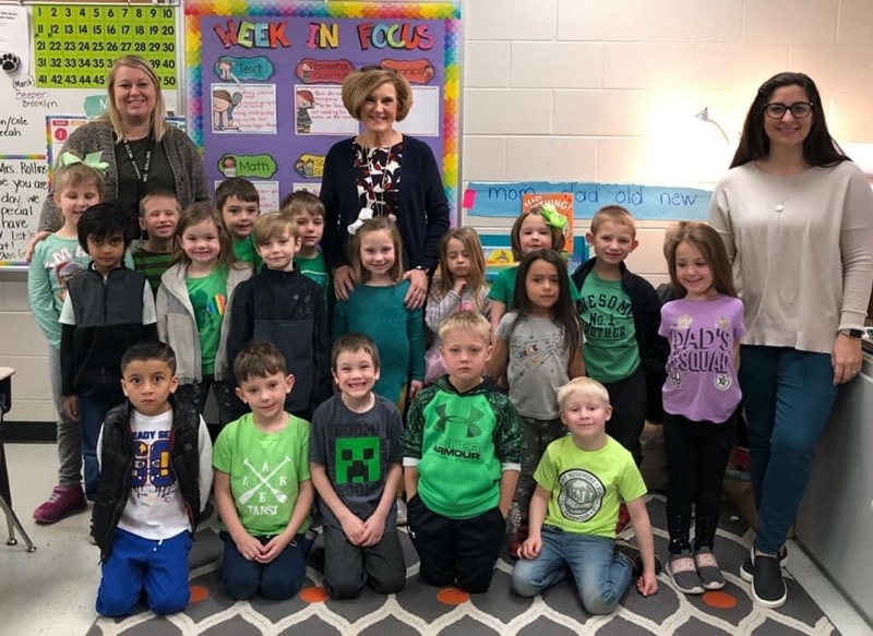 Mrs. Graham visits Mrs. Rollin's Class