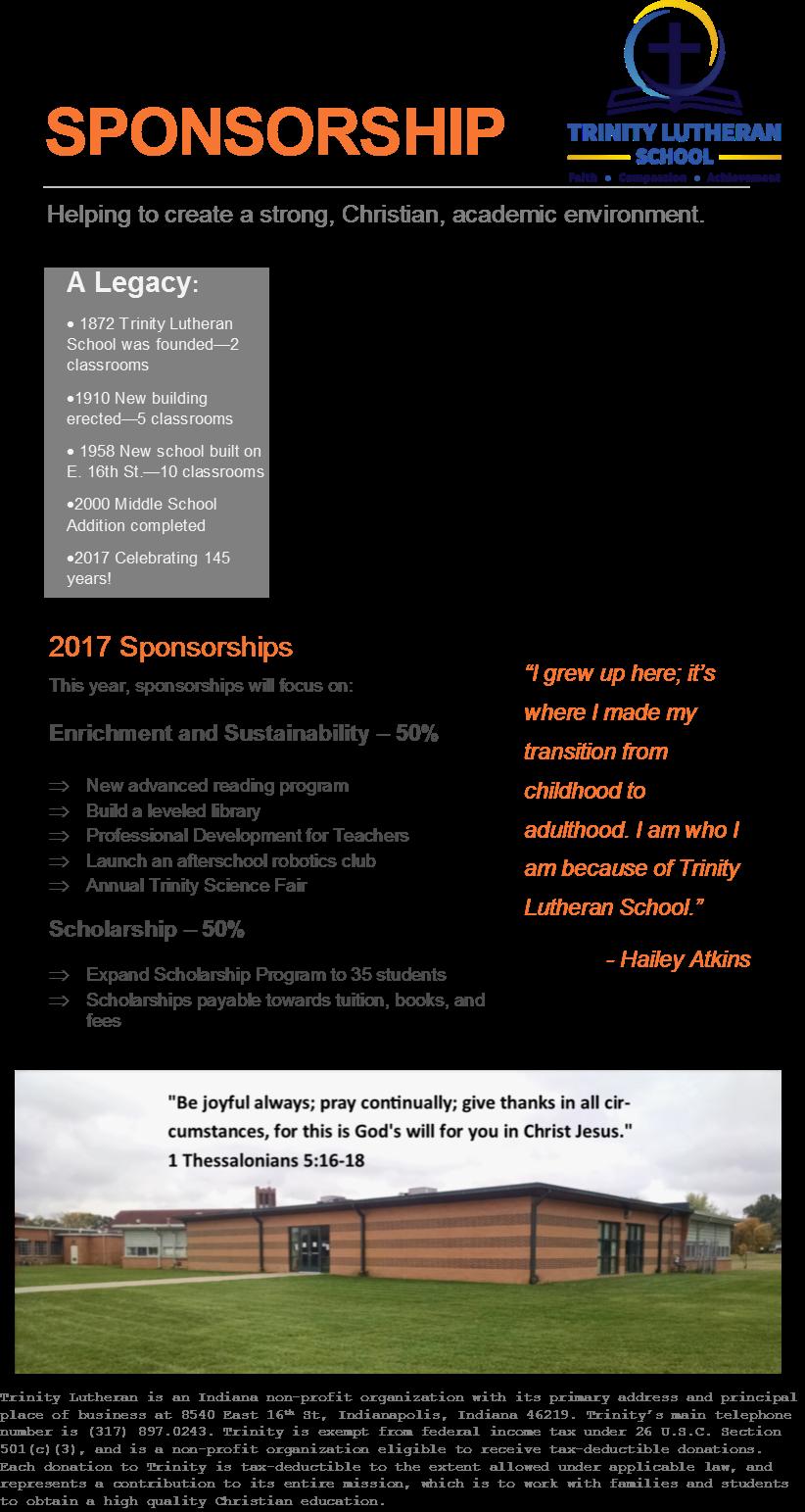 Corporate sponsorship newsletter