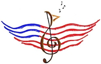American Flag music graphic