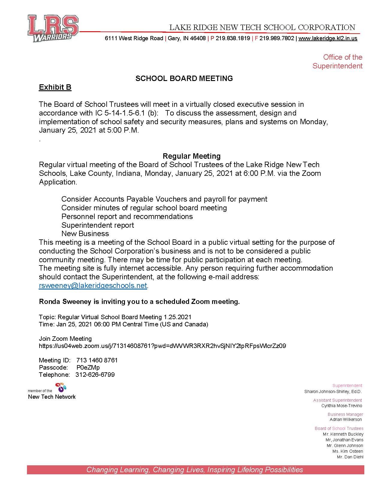 Board Notice