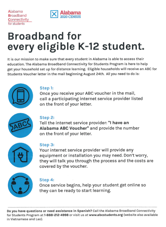 Broadband for Every Eligible Student Flyer English