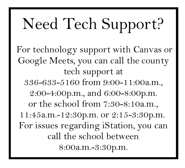 Tech support information