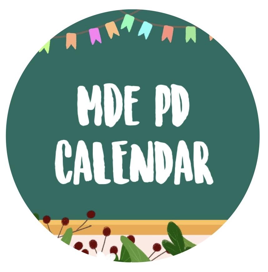 MDE PD Calendar