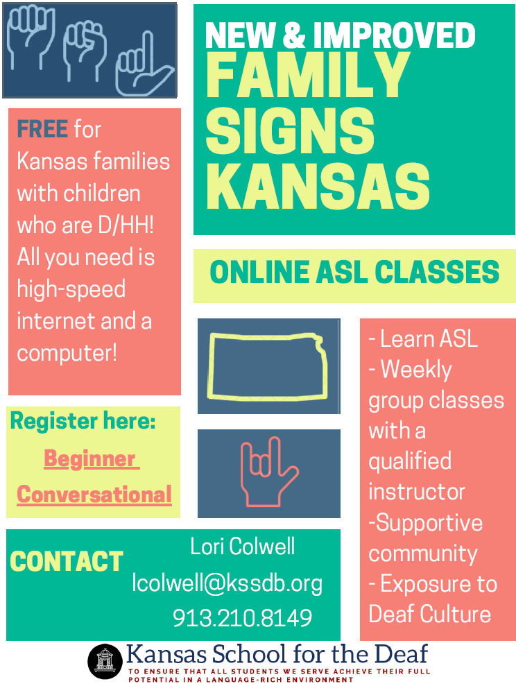 New & Improved Family Signs Kansas Online ASL Classes