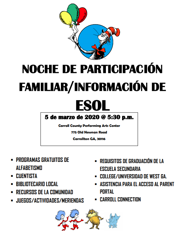 esol spanish flyer and link