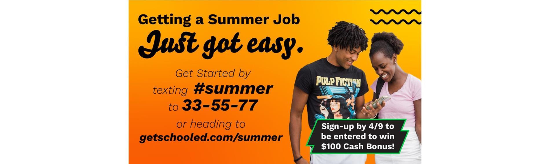 Summer Job Info