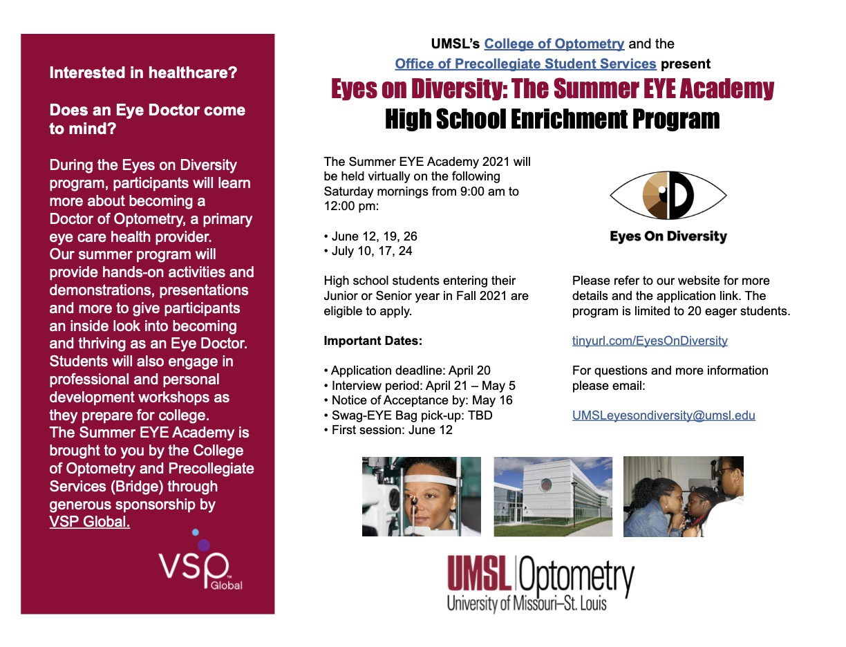 UMSL Summer Eye Academy