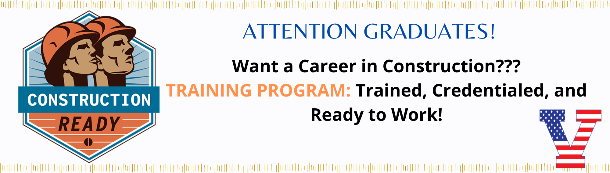 Attention recent graduates - career in construction
