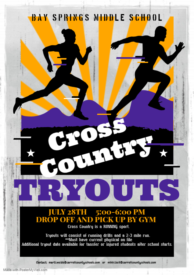 Cross Country Tryouts 2021