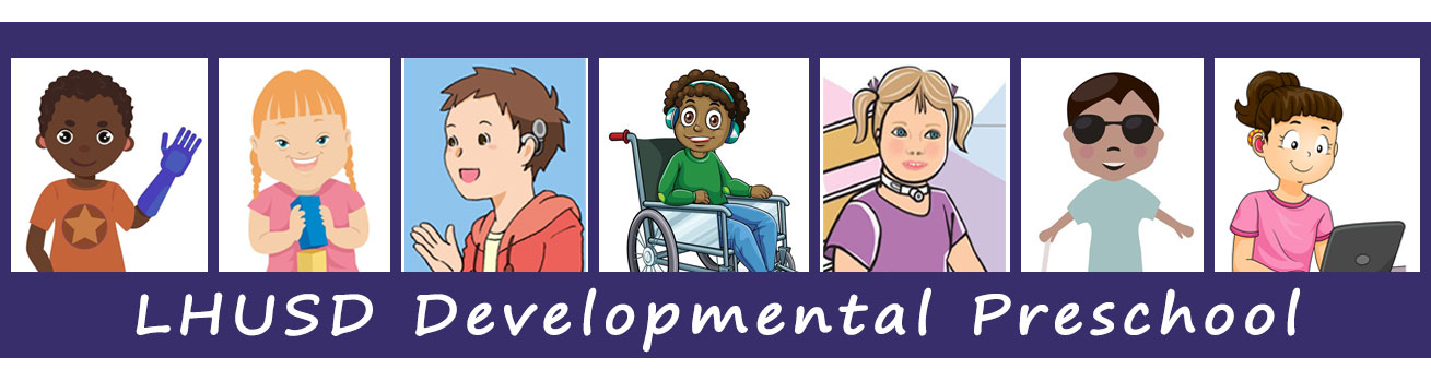 clipart banner of children with disabilities