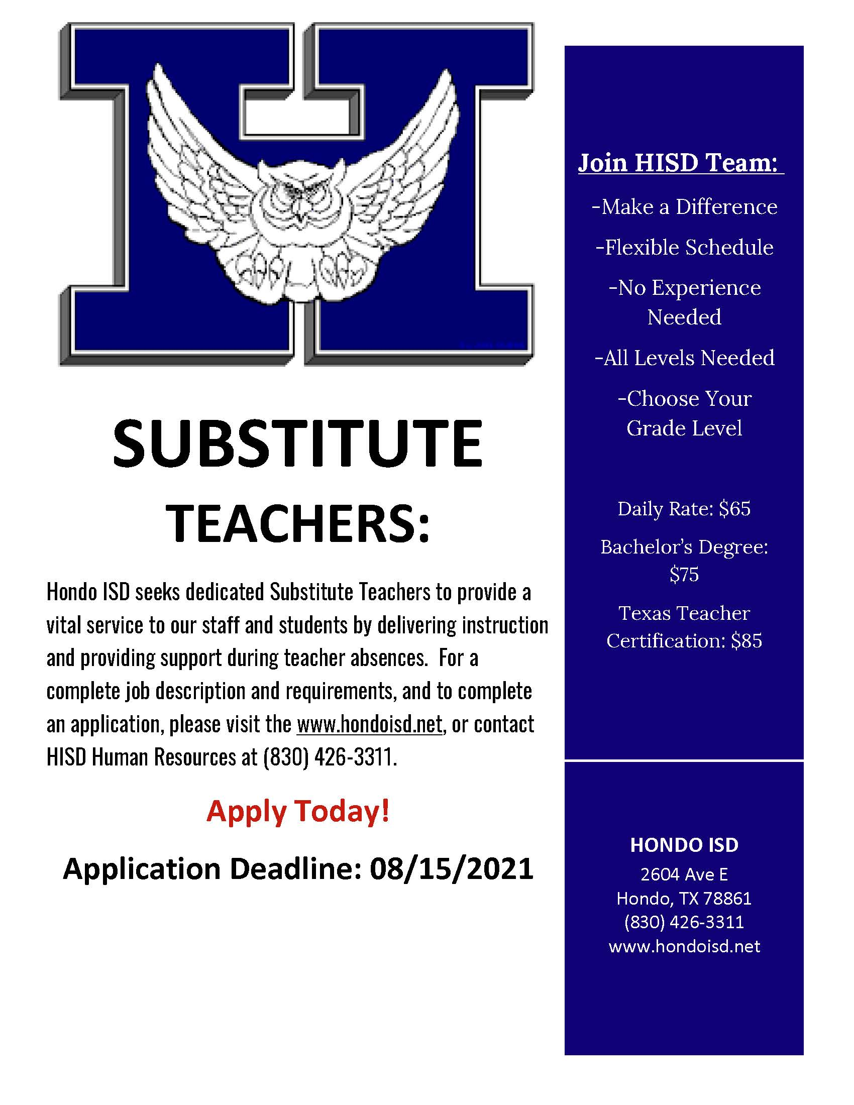 Substitute Flyer
