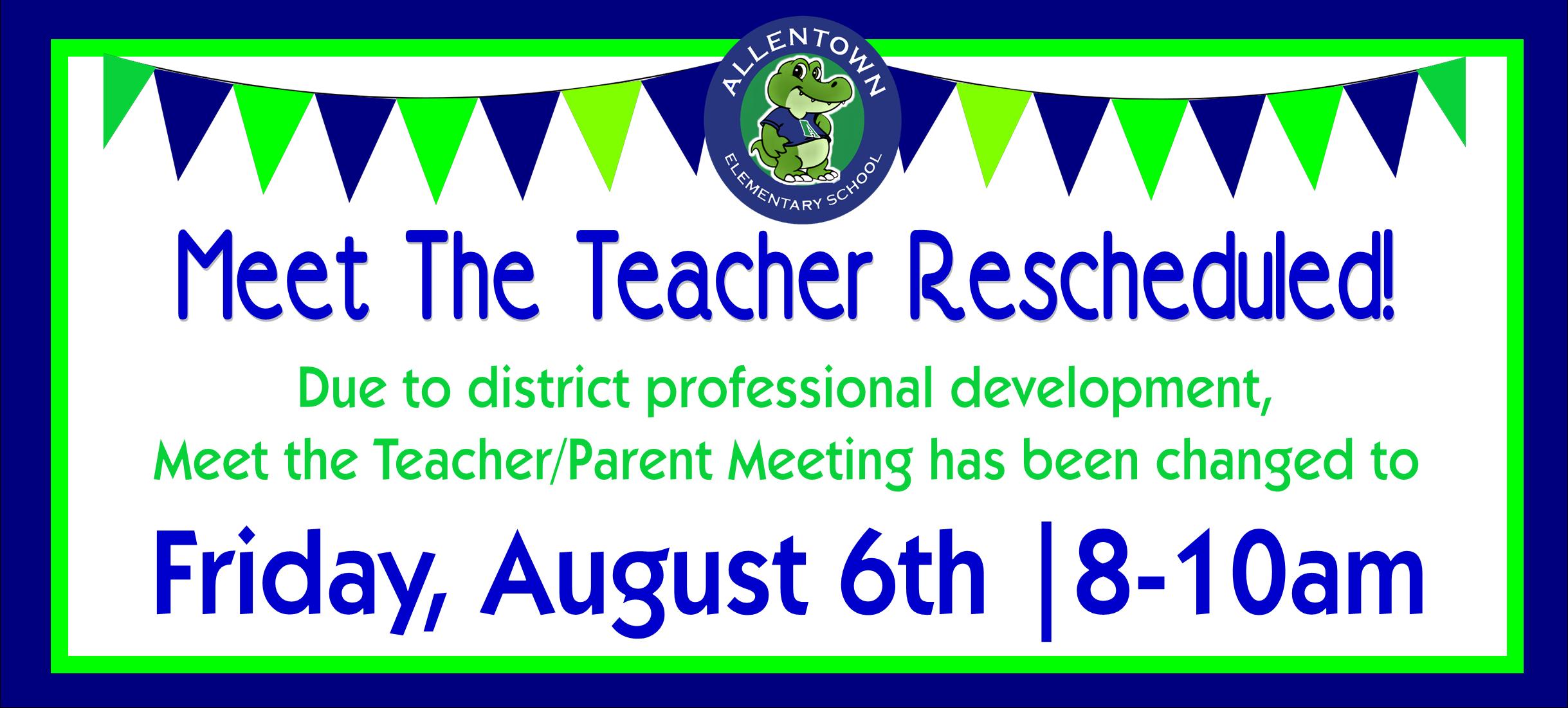 meet the teacher new date