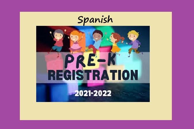 PreK registration 2022 spanish