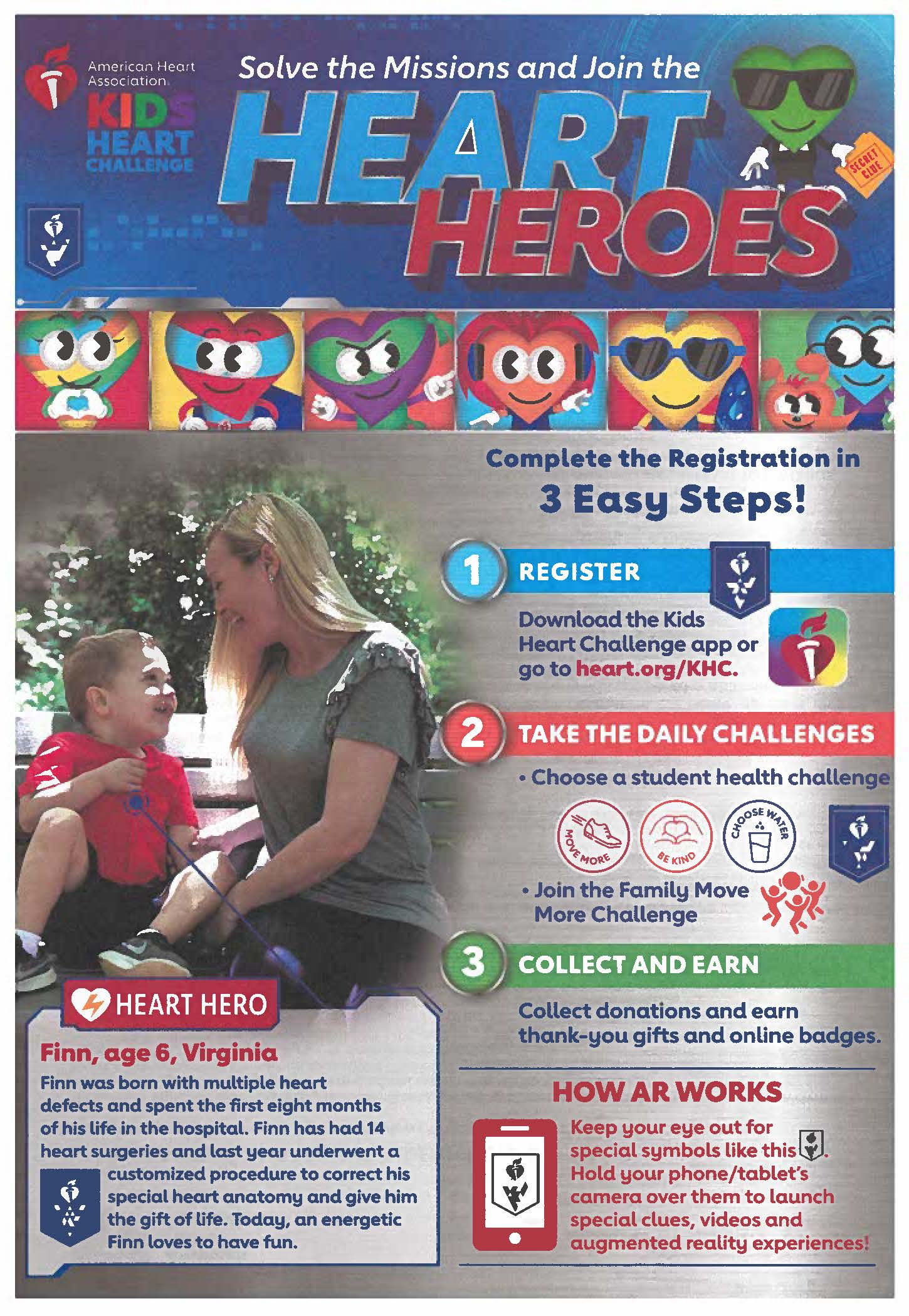 Heart to Hero Campaign flyer
