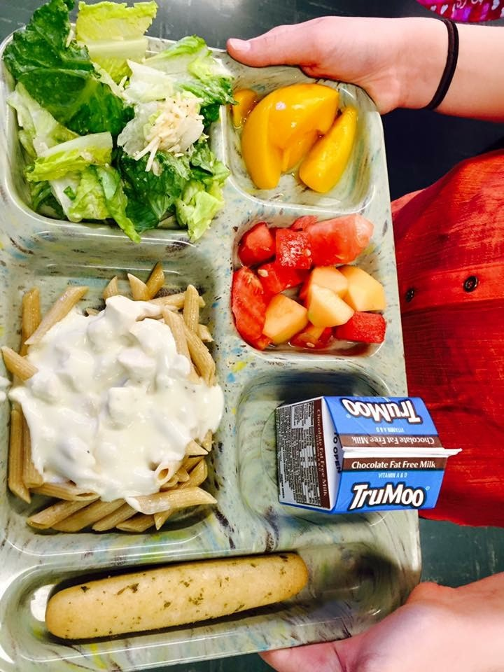 Image of Colorful Food Tray at JCC Elem