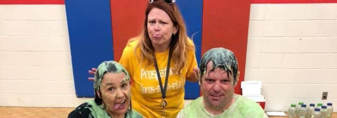 taechers and principal get slimed