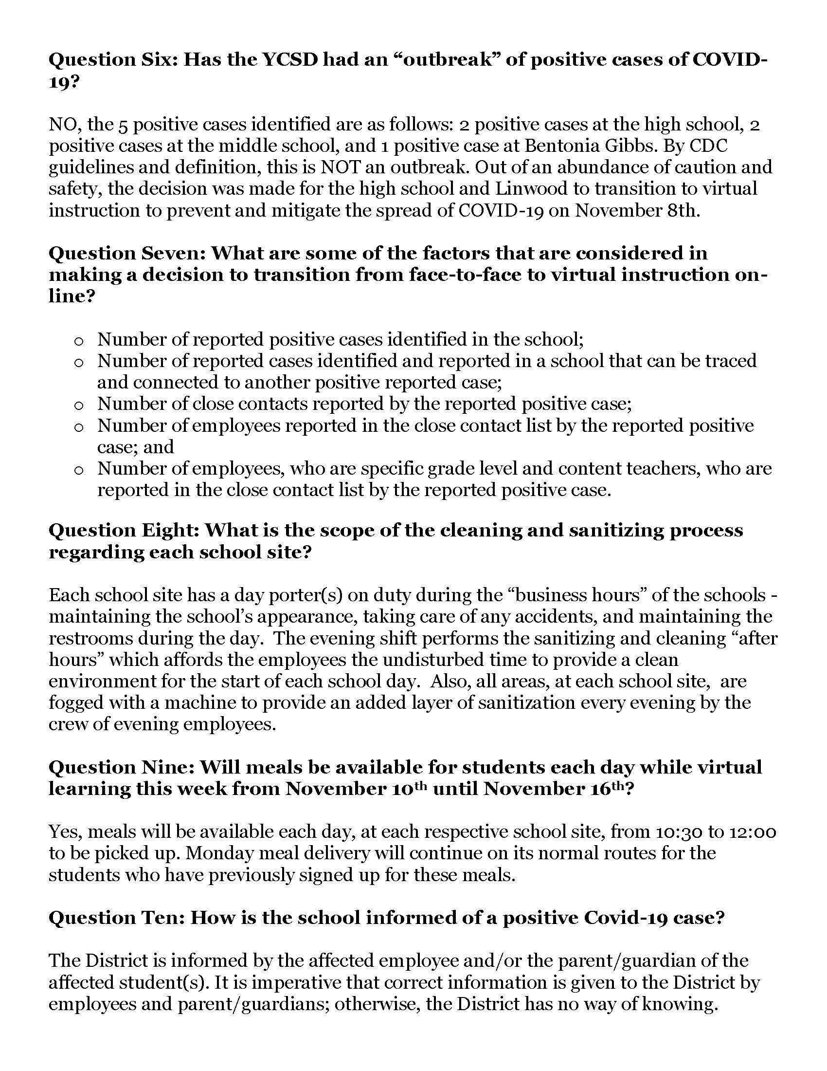 COVID Question and Answers Page 2