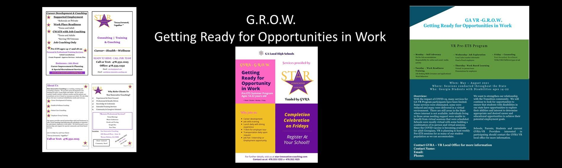 G.R.O.W. - Getting Ready for Opportunities in Work