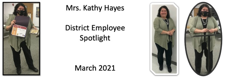 Kathy Hayes March 2021 District Spotlight