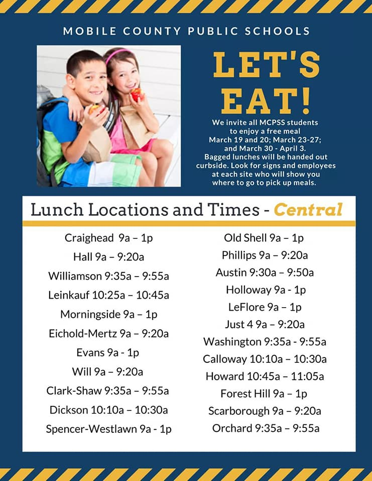 Mobile County Feeding Schedule