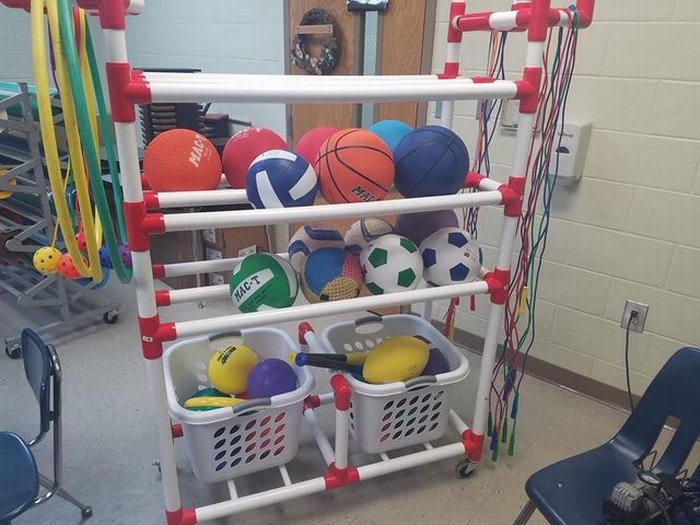 NES received new items for their recess cart