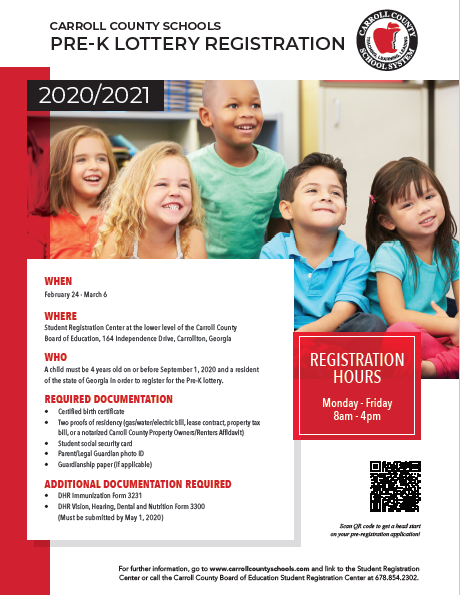 preK registration flyer