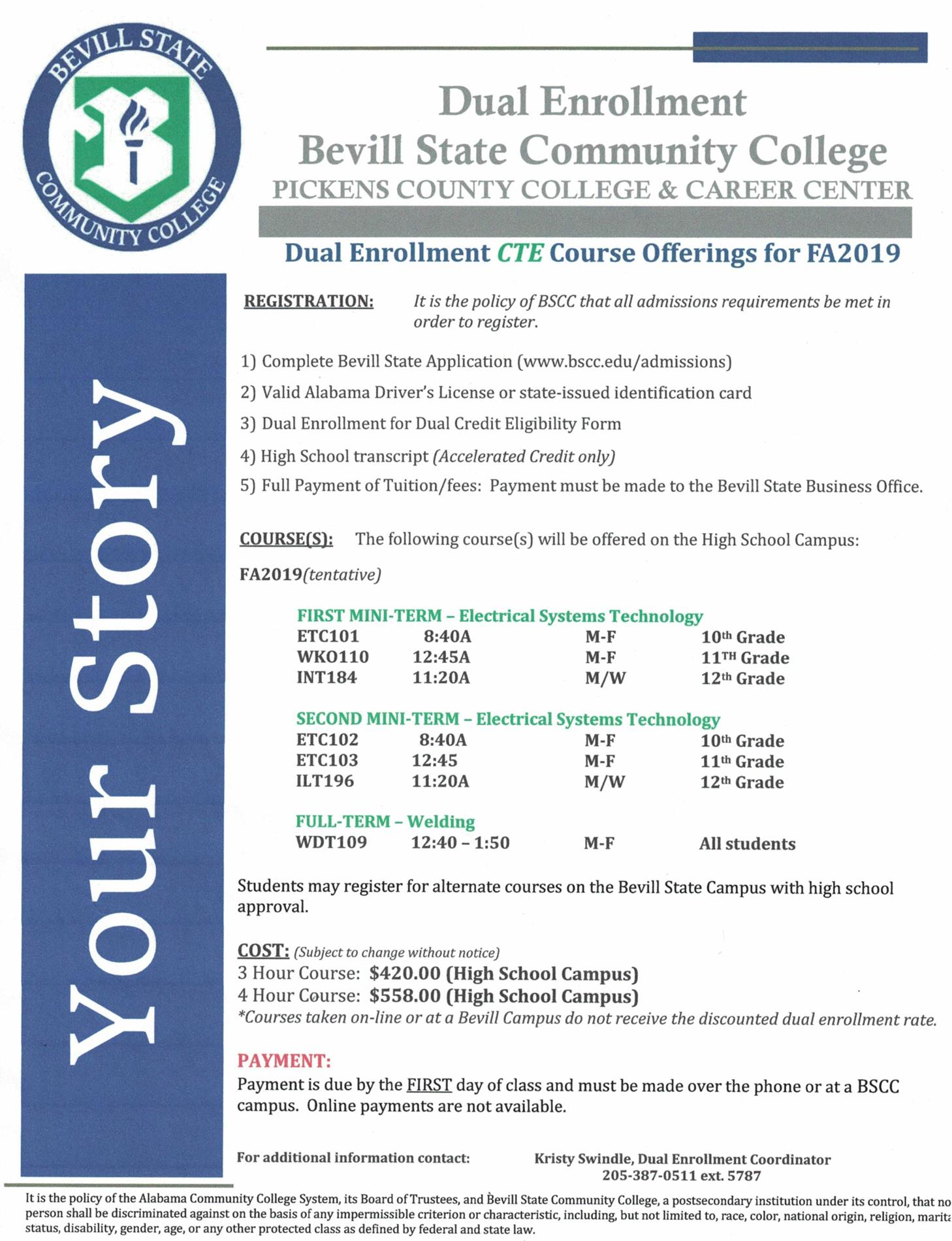 CTE course offerings