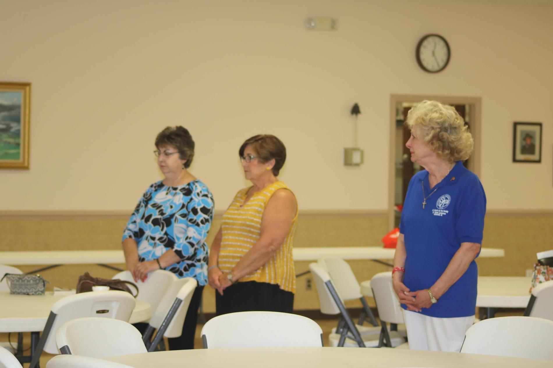 Members watch presentation