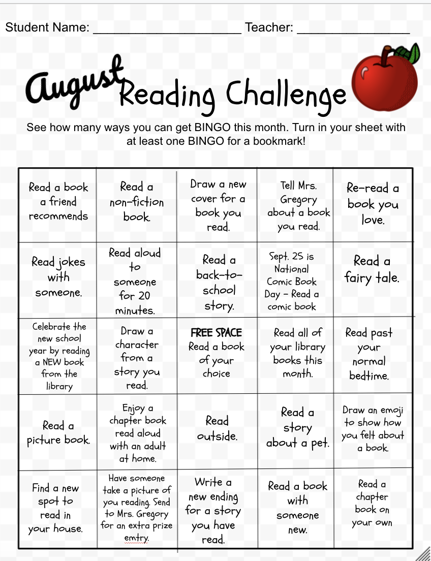 August Reading Challenge
