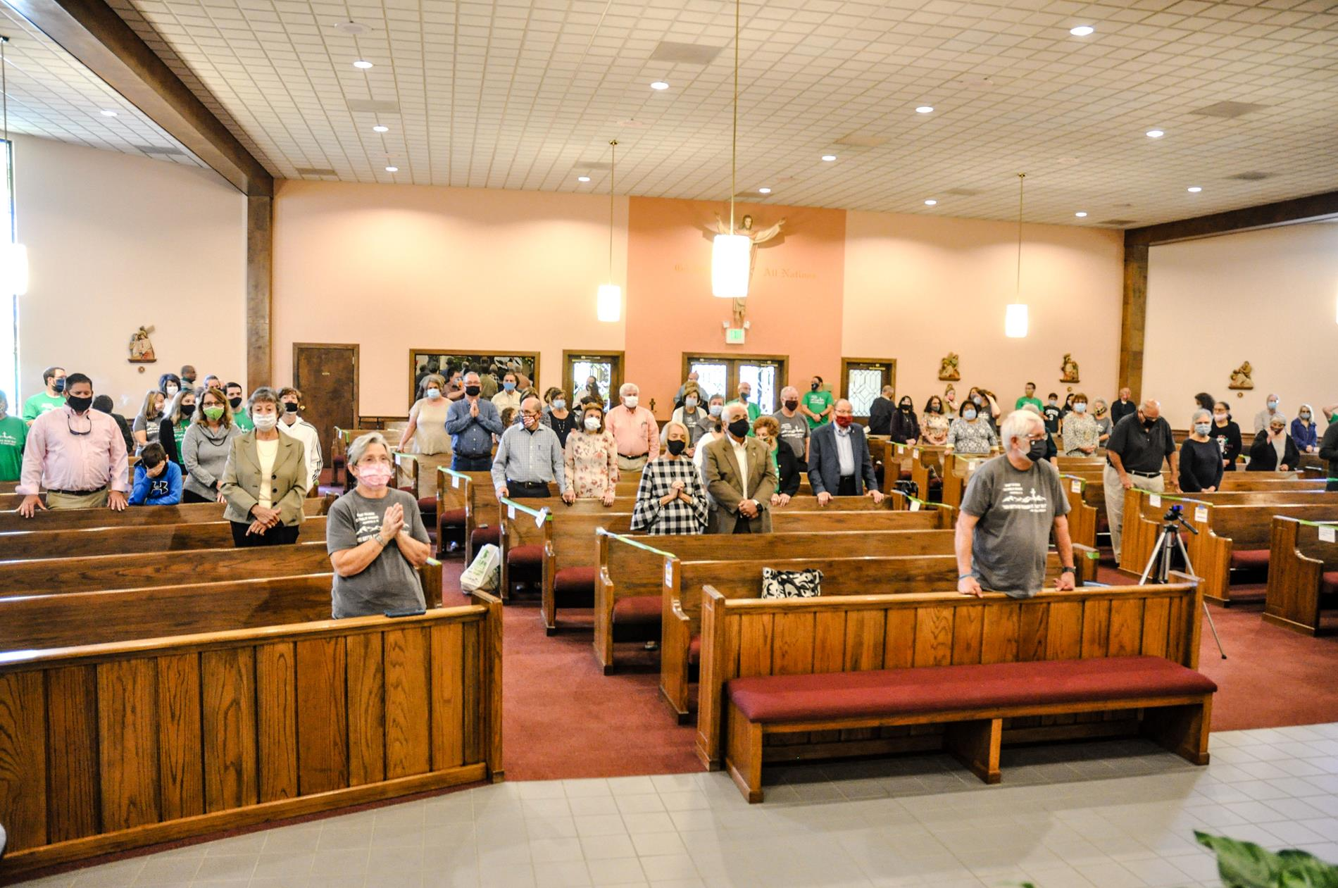 Center aisle of congregation