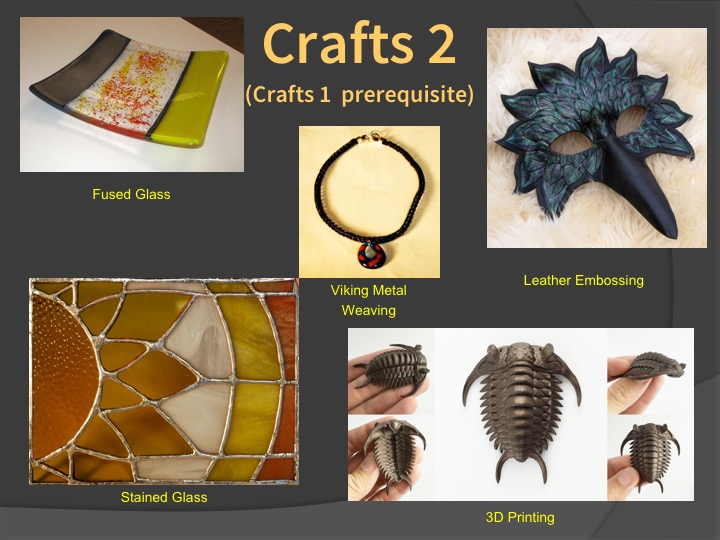 Examples of Crafts 2 student work