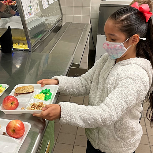 student gets Green Eggs and Ham for lunch