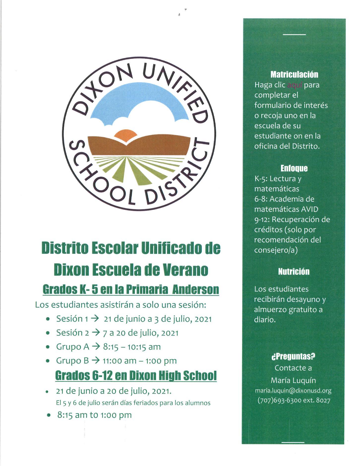 Summer School Info