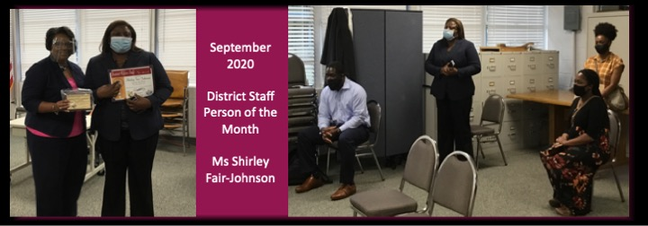 Ms Fair-Johnson September 2020 District Person