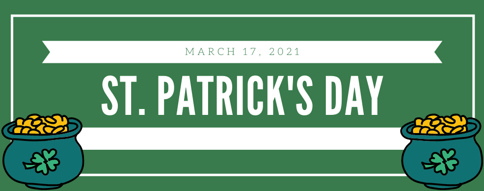 Green St. Patrick's Day Sign and date