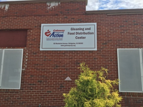 Food Distribution sign