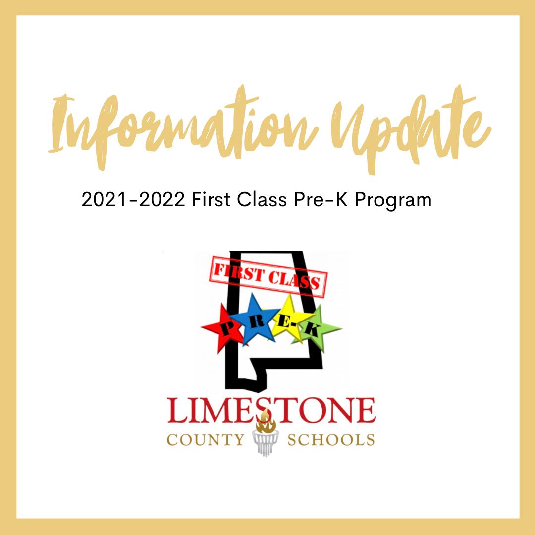 First Class Pre-K Update