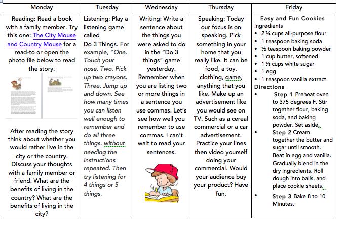 May 11-15 English