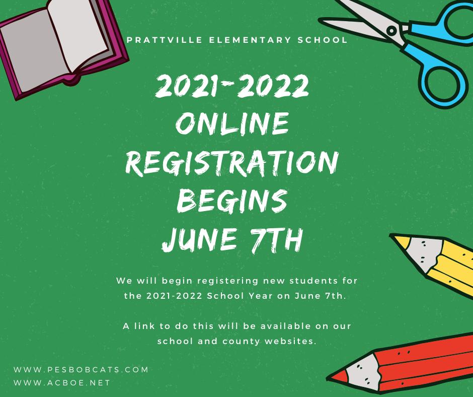 Online registration.